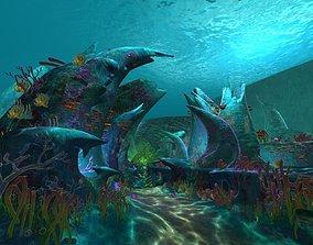 3D Cartoon Undersea Scene