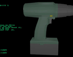 Low poly Drill 1 3D model