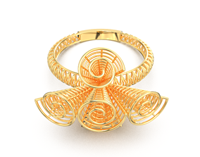 GOLD RING 3D printable model shining fashion-ring