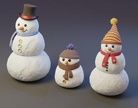 VR / AR ready Snowman - 3D