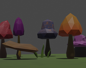 3D asset Off The Trail Mushroom Mini Pack - By PHONYCO