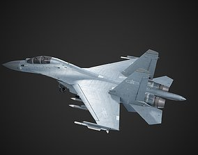 Chinese Air Force J-16 J16 Fighter Bomber PLA 3D model