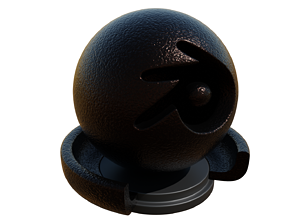 Dark Rough Bronze Metallic Shader 3D
