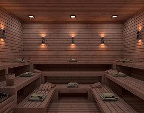 Sauna 3D Model Vray Settings realtime