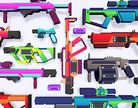 CB LowPoly Sci-Fi Guns 3D model