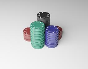 Poker Chips 3D asset