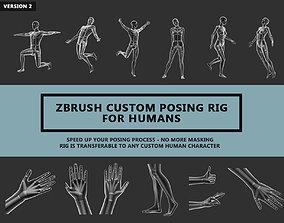 Zbrush Custom Posing Rig Tool For Humans V2 3D model