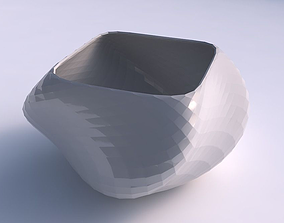 3D printable model Bowl helix with diagonal grid pattern
