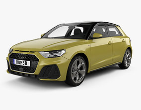 Audi A1 Sportback S-line with HQ interior 2018 3D model