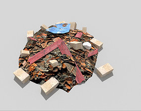 3D asset low-poly Debris Pile