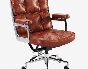 3D model Eames Executive Lobby Chair Waxed
