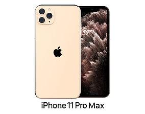 3D Apple iPhone 11 Pro Max Gold