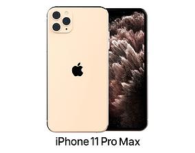 Apple iPhone 11 Pro Max Gold 3D