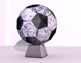 3D asset realtime Crystal Football Trophy