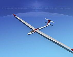 Schleicher ASW 22 Sailplane V09 3D model