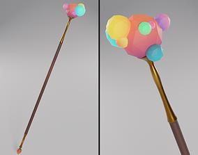 Ico Staff 3D asset