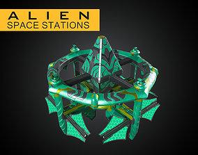 3D model Alien Modular Space Stations