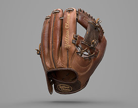 3D asset Game Ready Leather Baseball Glove