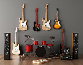 musical instruments 3dsmax2014 realtime
