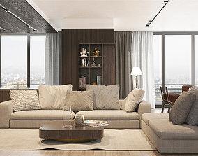 Living room black 3D model