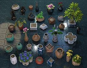 Garden Pot Pack 3D asset