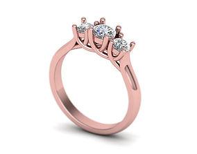 Three Stone Engagement Ring printable 3d model N10317
