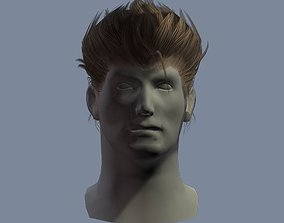 3D asset hair man 2