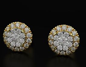 Earrings with diamonds imitation stone 602 3D print model