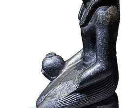 Egyptian statue from Berlin museum 3D print model