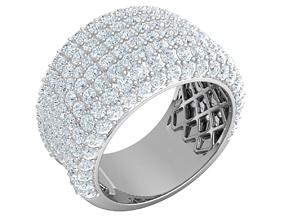 3D printable model Big Stone Mens Ring