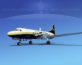 3D model Convair CV-580 Gulf Air Transport