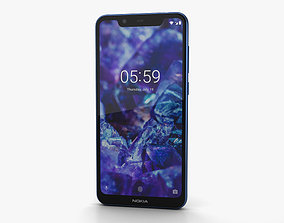 3D Nokia 5-1 Plus Baltic Sea Blue