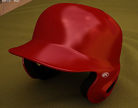Baseball Batting Helmet 3D