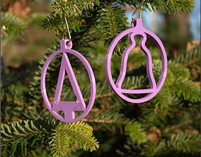 3D print model CHRISTMAS TREE AND BELL SUSPENSION