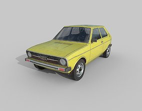 3D asset Low Poly Car - Audi 50 Type 86 1974