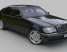 3D Mercedes Benz S Class W140 - S600 sedan