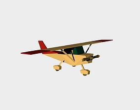 low poly cessna 3D model