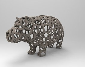 3D printable model Hippo Voronoi