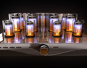Vacuum tube amplifier 3D model