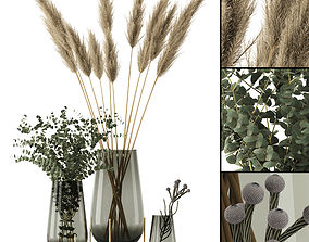 bouquet 3D Plants in Echasse Vases