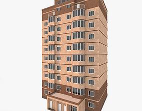 3D model Simple Residential Building 1