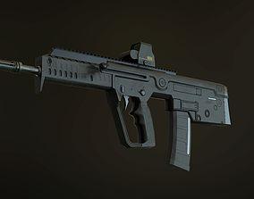 TAR-21 Tavor IWI Rifle 3D asset