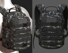 Backpack military combat bag baggage Black 3D model