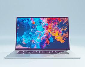 3D Laptop 16 inch Silver Colour 3D model mac