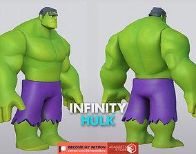 Character - Cartoon - Hulk Infinity Fan Art 3D asset