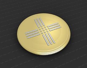 worship religious 3D print model Cross Medallion
