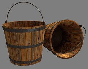3D asset realtime Bucket Wooden