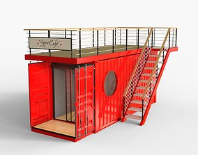 3D model Container Cafe 3