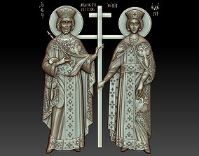 3D model Orthodox icon of Saints Constantine and Helen