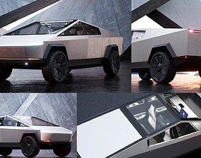 3D asset Cybertruck High Detailed Model with interior